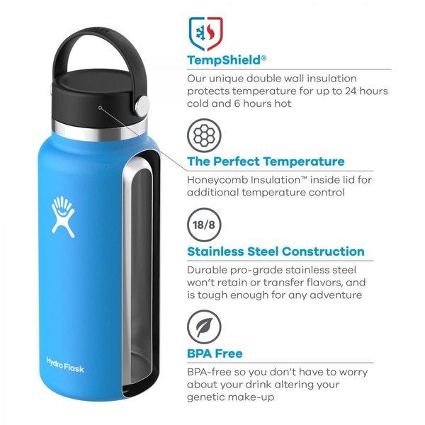 Hydroflask 32 OZ WIDE MOUTH 2.0 FLEX CAP BLACK