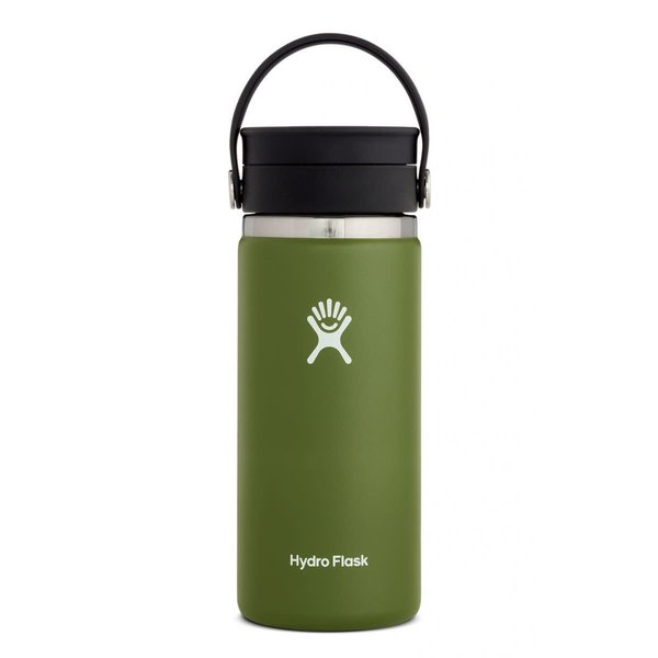 Hydroflask 16 oz  COFFEE WIDE MOUTH FLEX SIP LID  OLIVE