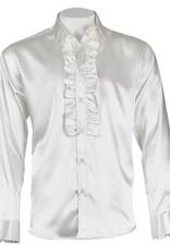 INSERCH MERC USA Shirt Satin Ruffle ModernFit
