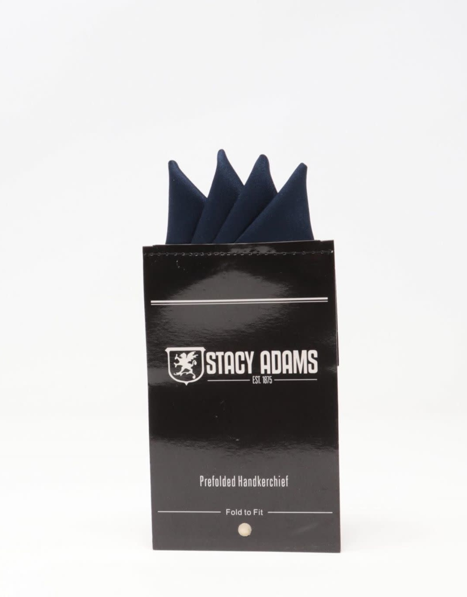 Stacy Adams Pocket Square Premade Stacy Adams Navy #1