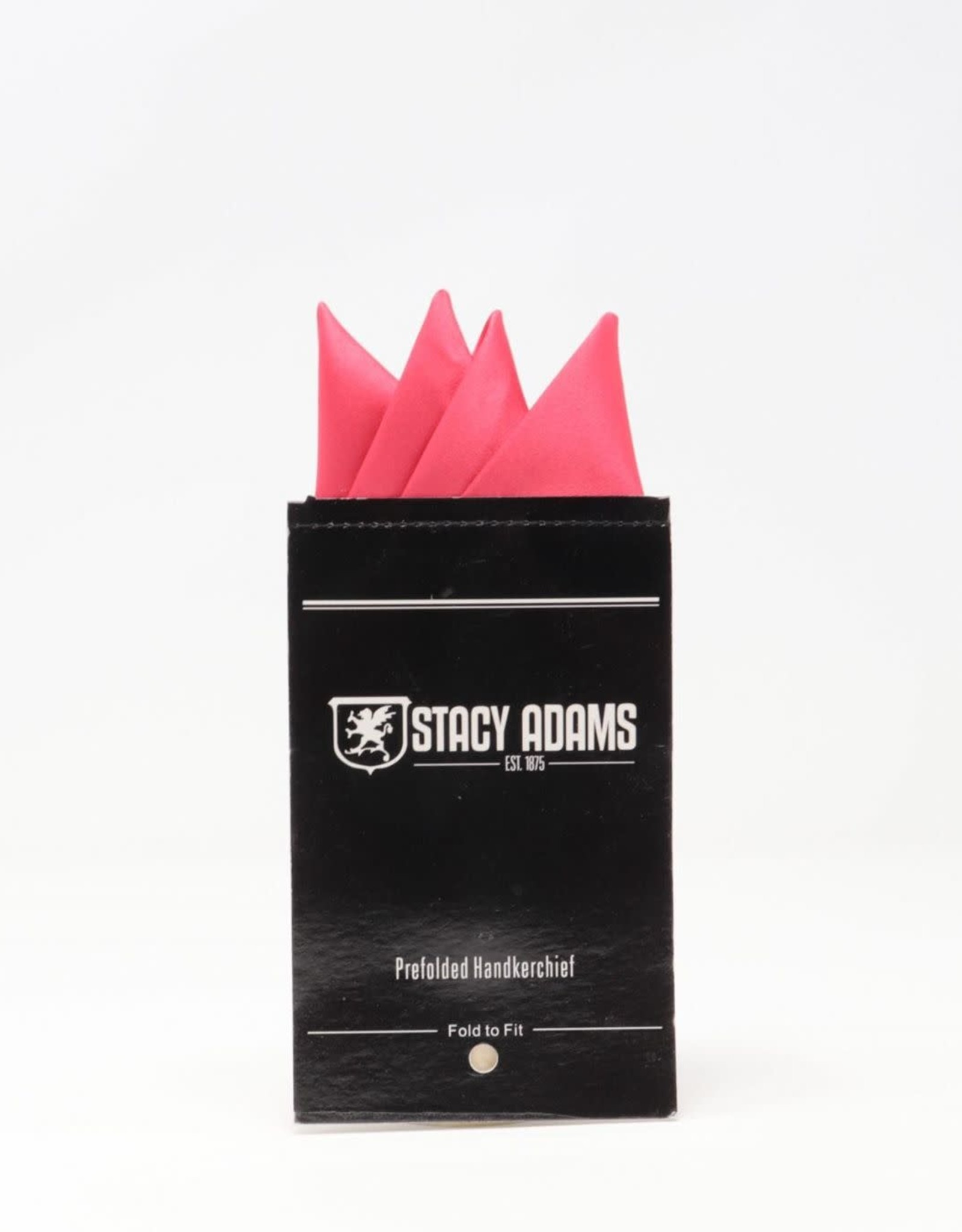 Stacy Adams Pocket Square Premade Stacy Adams Hot Pink #24