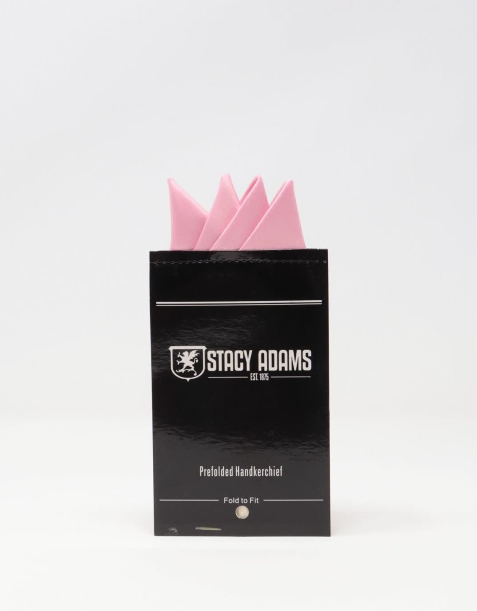 Stacy Adams Pocket Square Premade Stacy Adams Pink #19