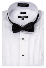Marquis Tuxedo Slim Fit Dress Shirt Pleated White