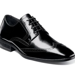 Stacy Adams Stacy Adams Adler Slip Resistant Wing Tip Oxford  Black