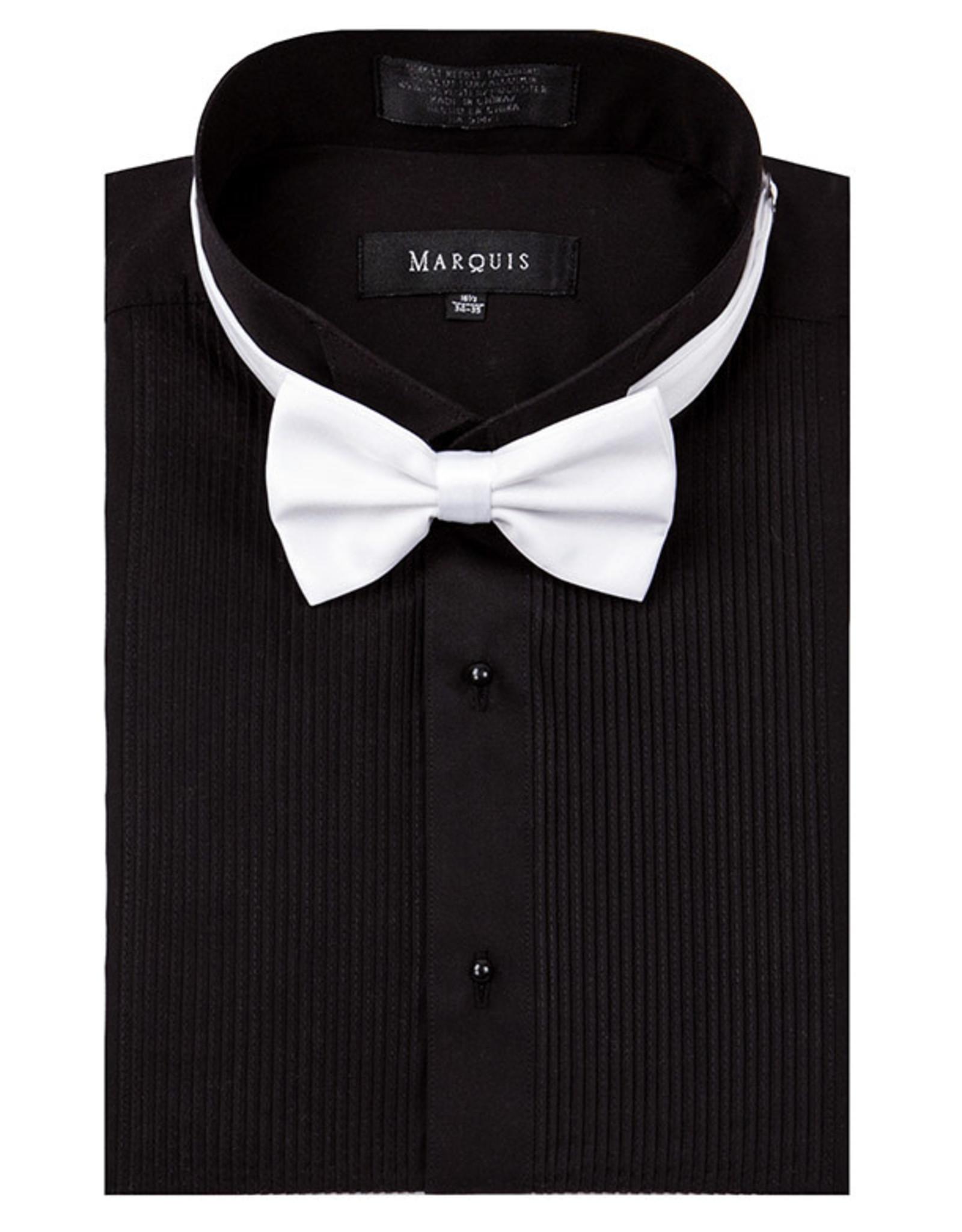 Marquis Tuxedo Dress Shirt Regular Fit Pleated Black