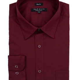 Marquis Dress Shirt MarQuis Slim Fit Burgundy