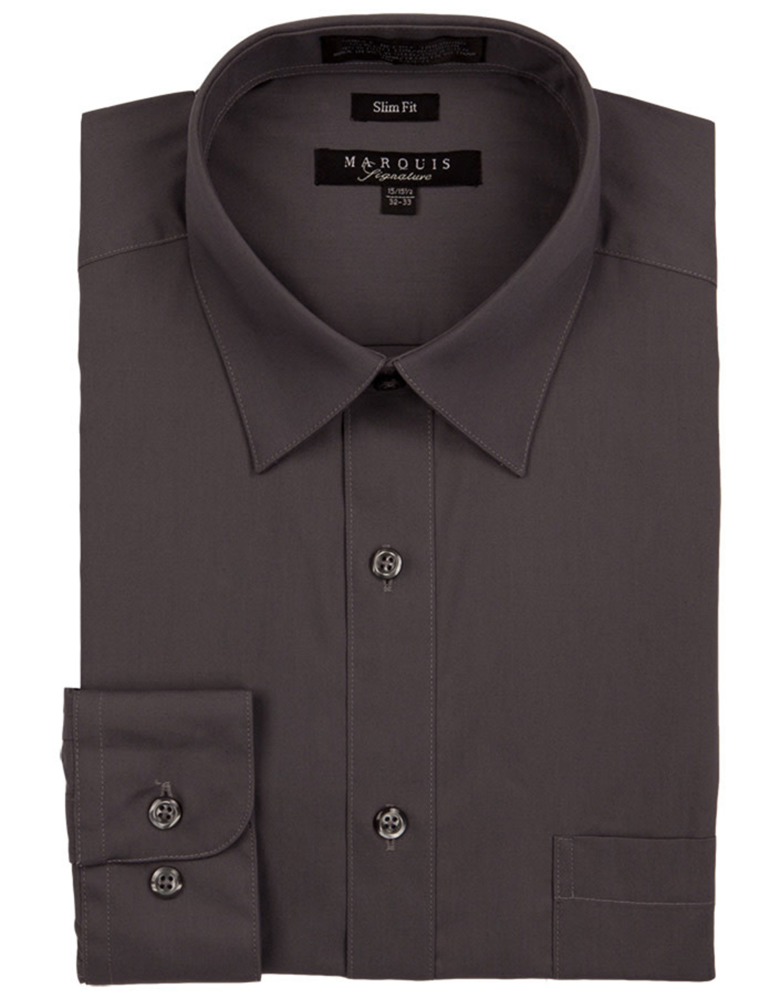 Marquis Dress Shirt MarQuis Slim Fit Charcoal