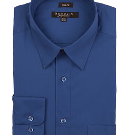 Marquis Dress Shirt MarQuis Slim Fit Royal Blue