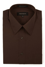 Marquis Dress Shirt MarQuis Regular Fit Chocolate