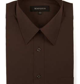 Marquis Dress Shirt MarQuis Regular Fit Chocolate