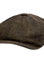 Hat Stetson 1865 EDISON Leather Suede Chocolate
