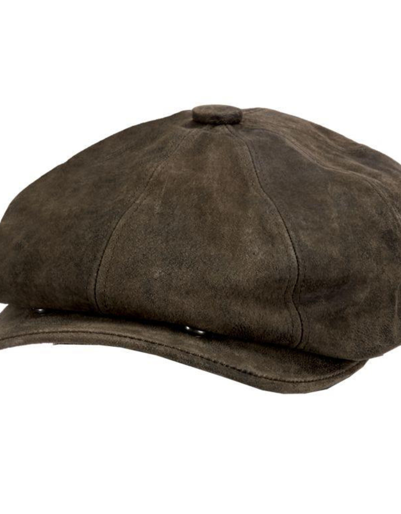 STETSON Hat Stetson 1865 EDISON Leather Suede Chocolate