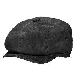 STETSON Hat Stetson 1865 EDISON Leather Suede Black
