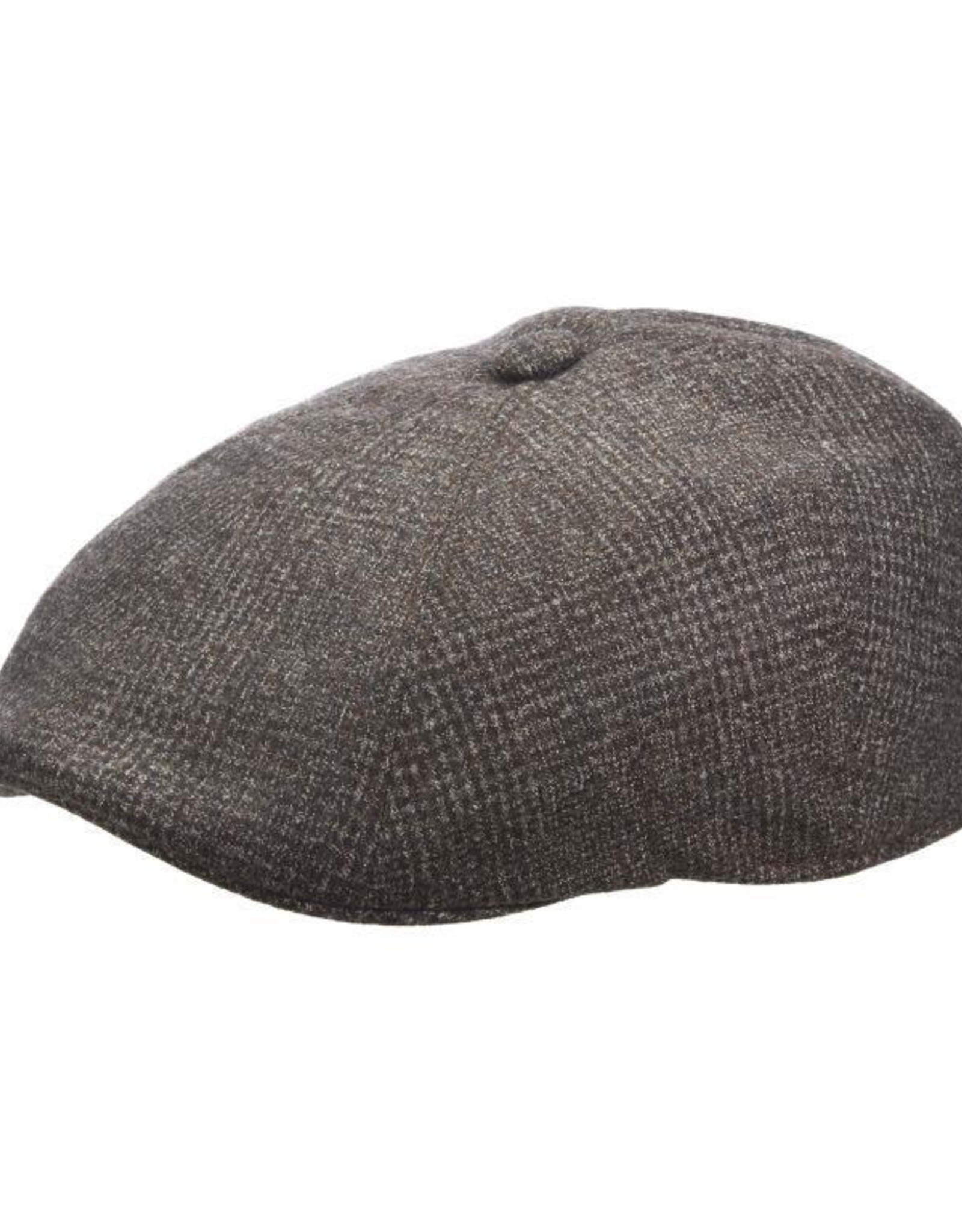 Hat Stetson  RUMFORD Newsboy Plaid Wool Gray