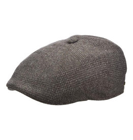 STETSON Hat Stetson  RUMFORD Newsboy Plaid Wool Gray