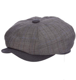 STETSON Hat Stetson NEWBRIDGE Poly Newsboy Gray