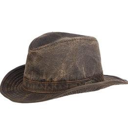 Hat Indiana J CRYSTAL SKULL Weathered Cotton Fedora