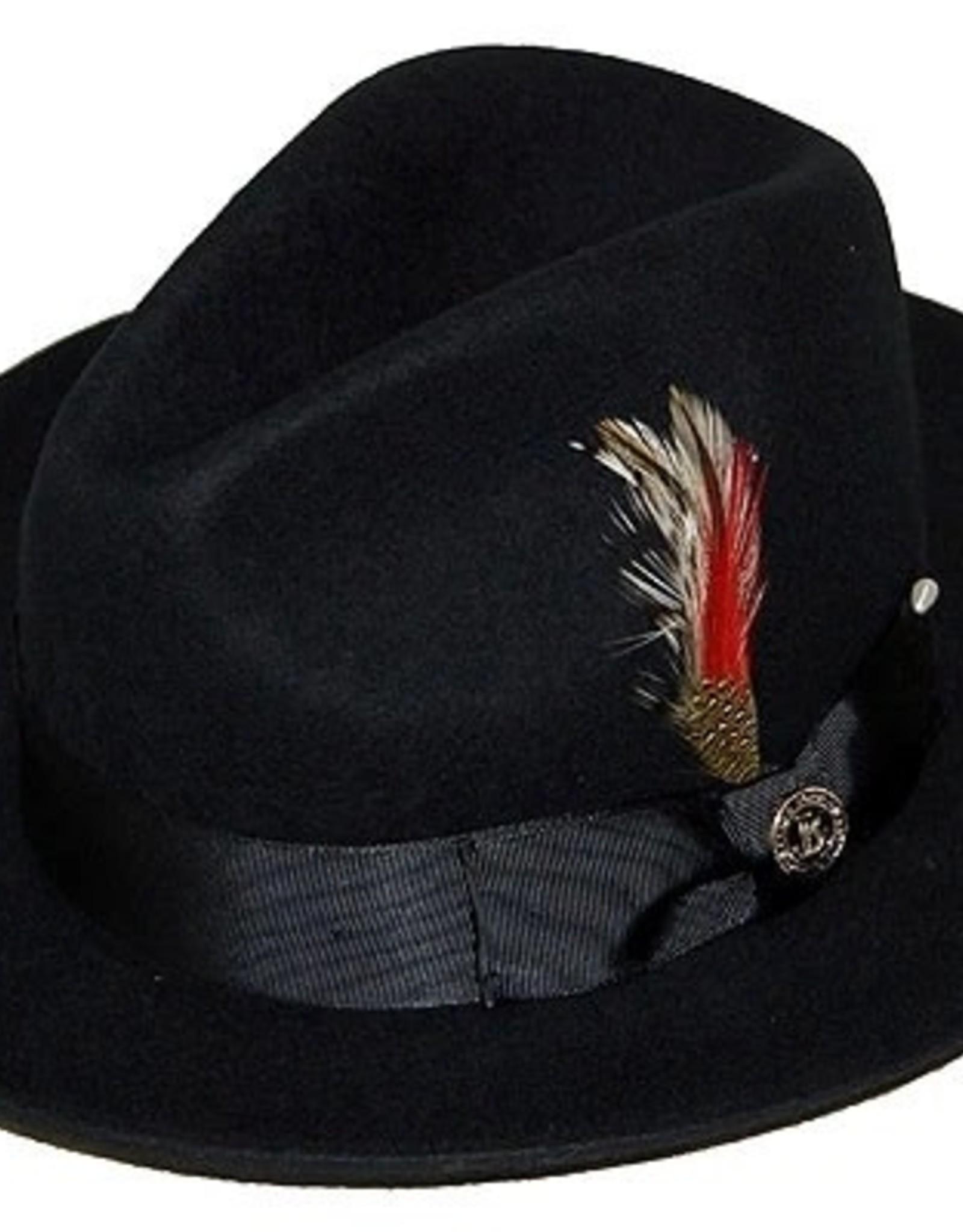 "Hat Fedro Executive Brim 2.5""  Black"