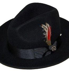 "Bruno Capelo Hat Fedro Executive Brim 2.5""  Black"