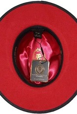 Hat Fedro Monarch Brim 3in Black/Red