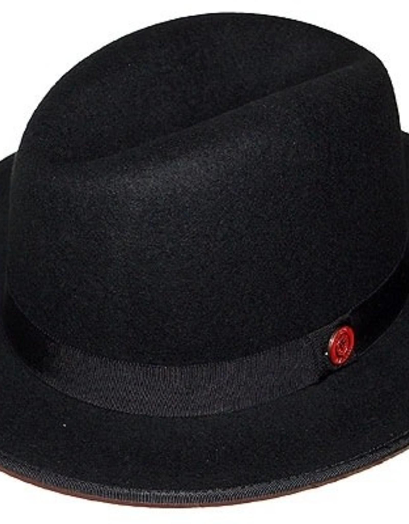 "Bruno Capelo Hat Fedro Prinston Brim 2.25"" Black/Red"