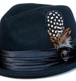 """Bruno Capelo Hat Fedro Giovani  Brim 2.25"""" Black"""