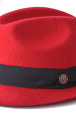 "Hat Chuck Fedro Brim 2"" Red"