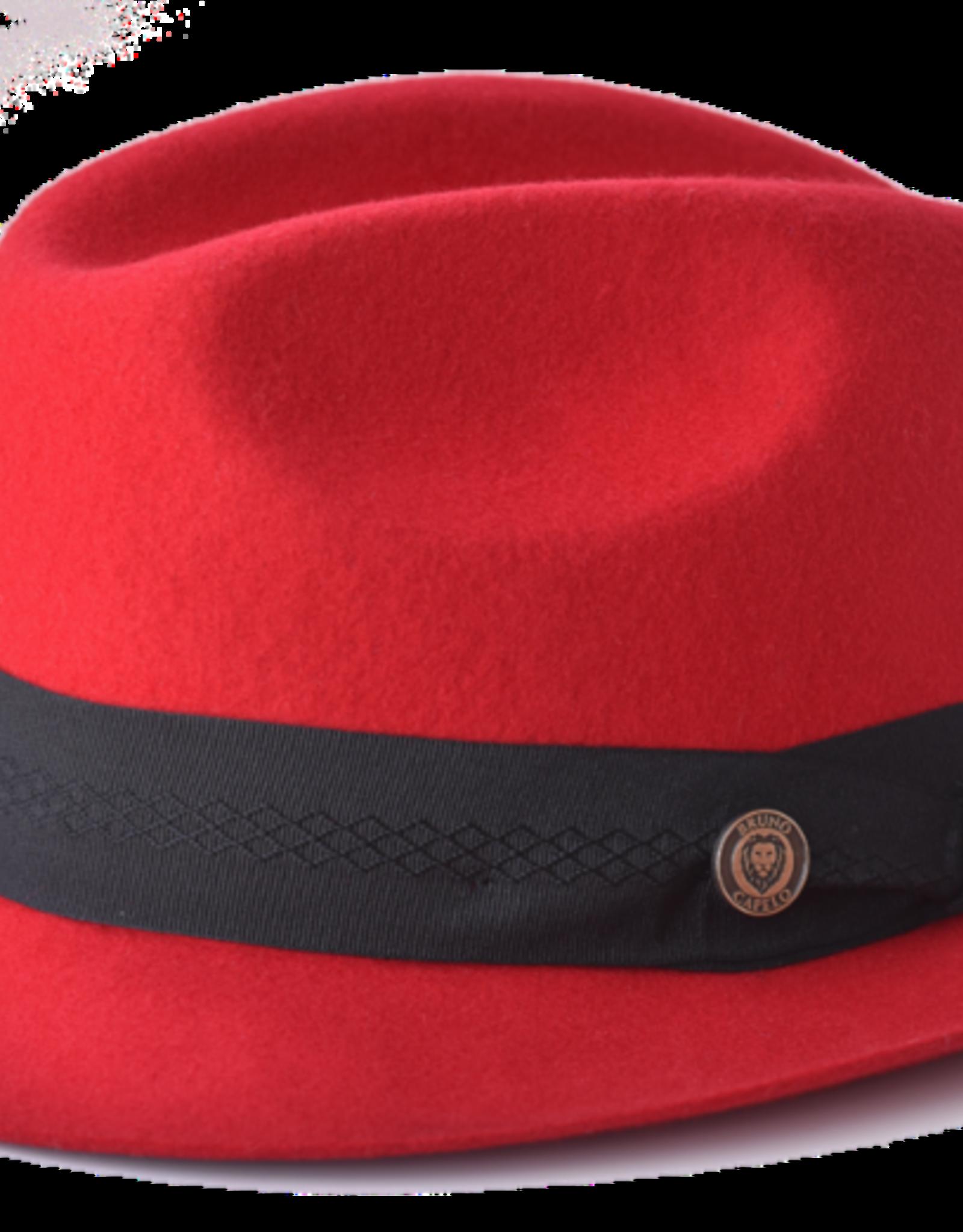 """Bruno Capelo Hat Chuck Fedro Brim 2"""" Red"""
