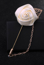 Lapel Pin Rose with Lapel & Chain