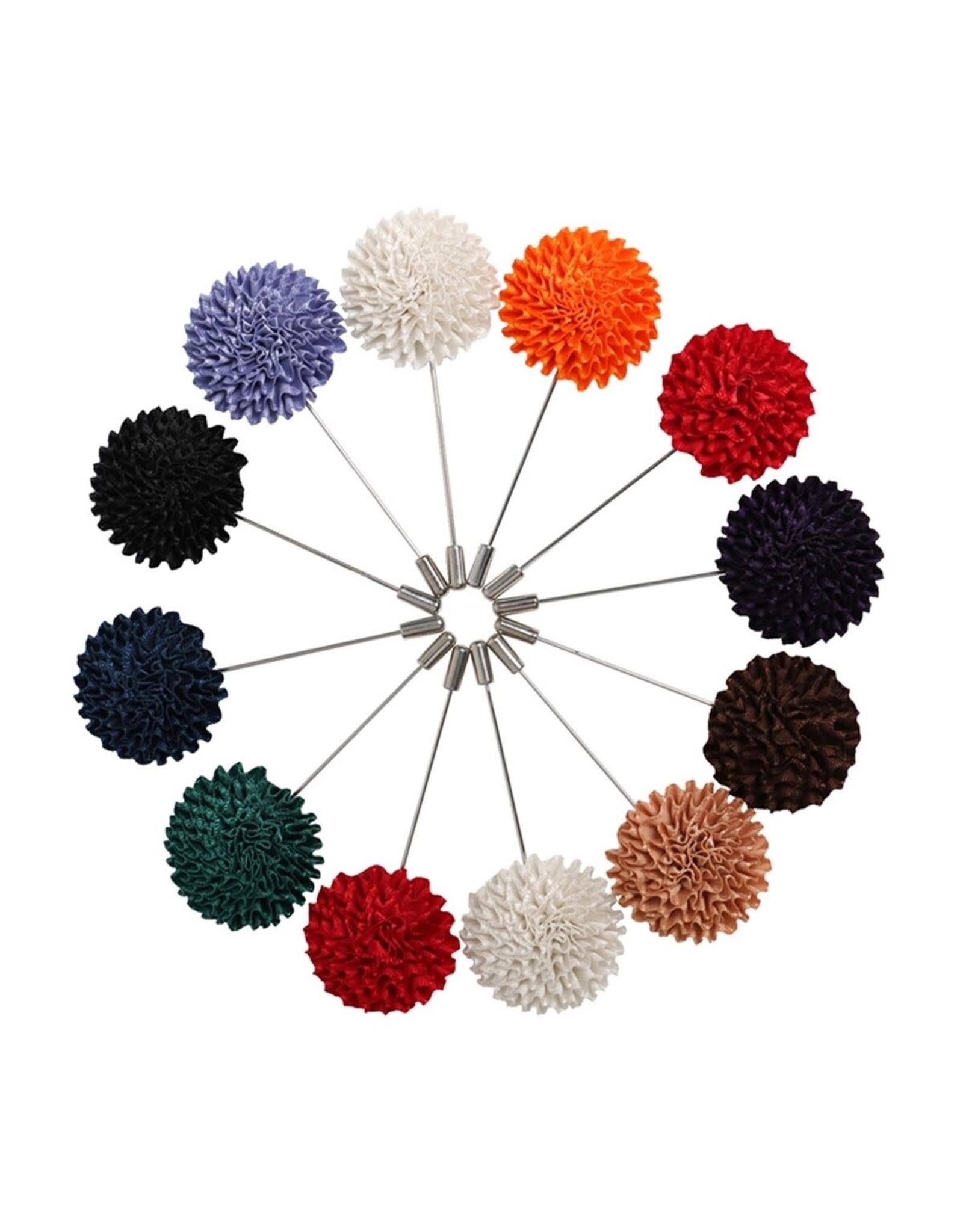 Lapel Pin Flower Ribbon ZigZag