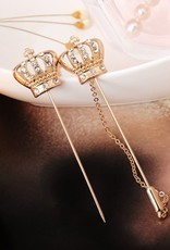 Lapel Pin Crown with chain