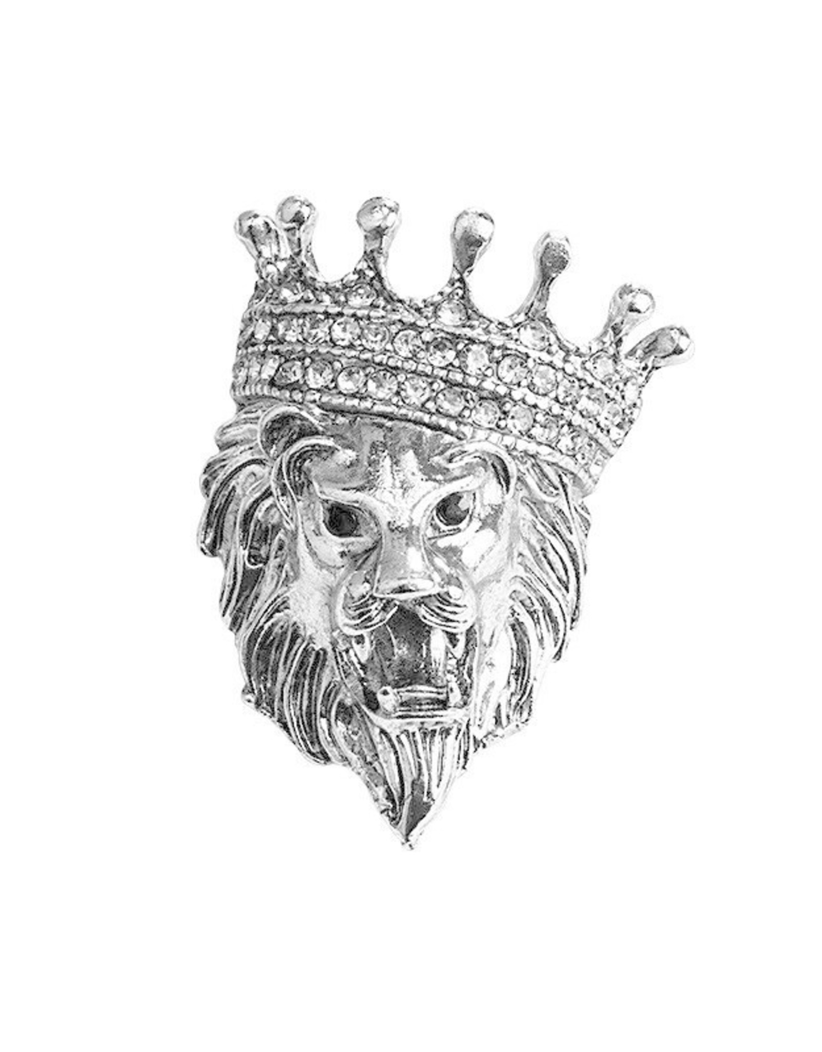 Lapel Pin Lion with Crown