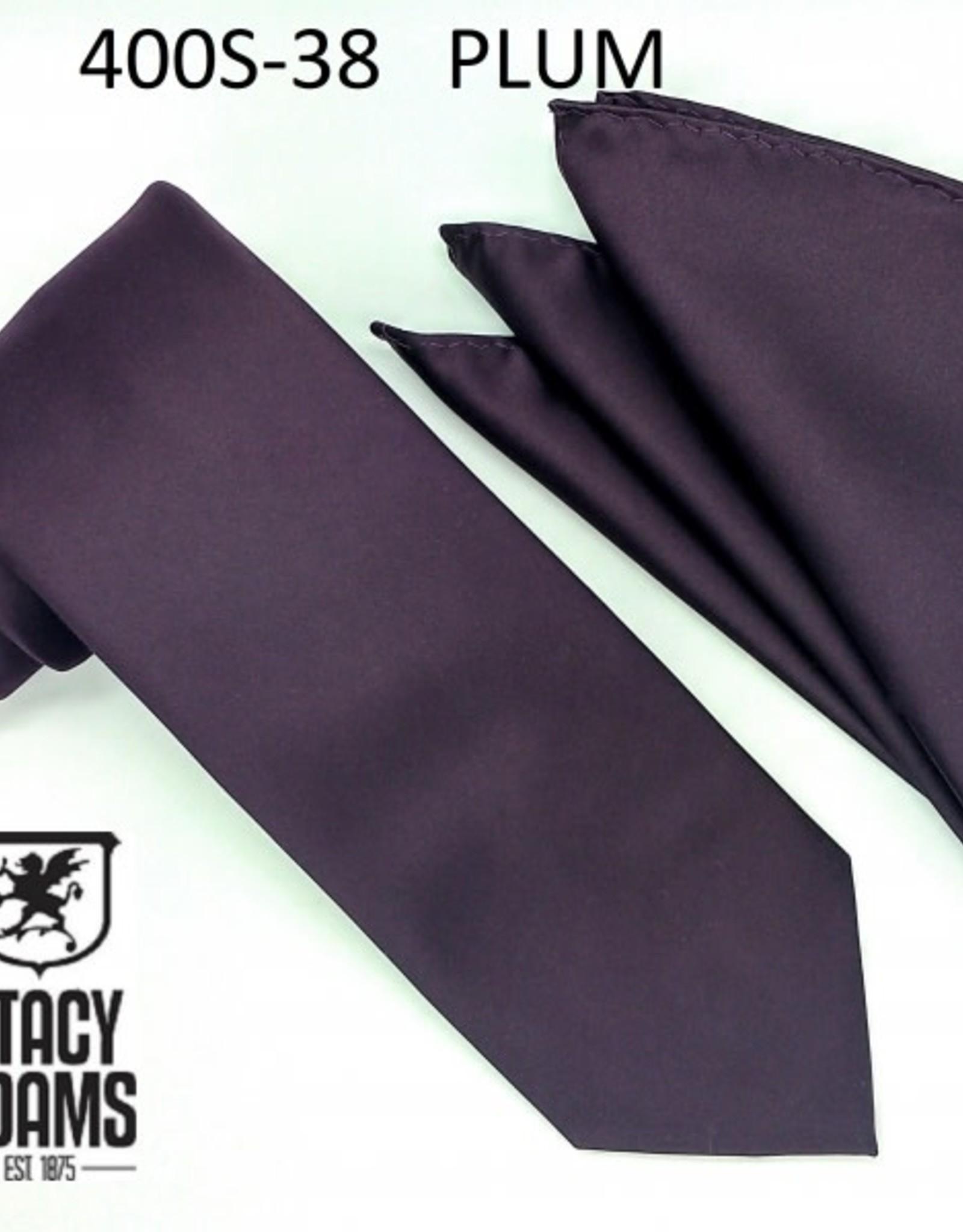 Stacy Adams Tie Stacy Adams Reg 400S-38 Plum