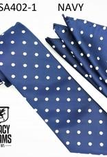 Stacy Adams Tie Stacy Adams Reg PolkaDot sa402-1 Navy