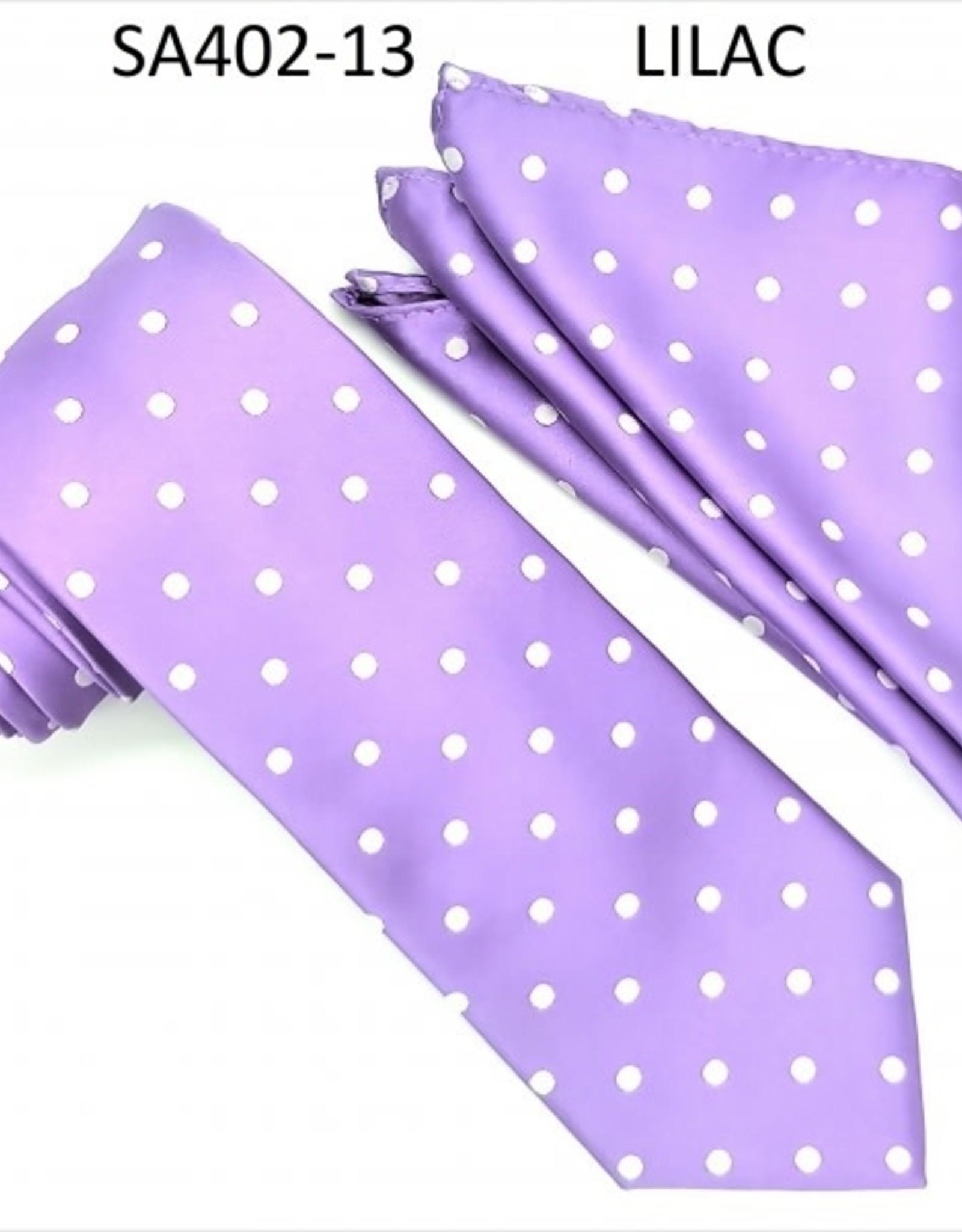 Stacy Adams Tie Stacy Adams Reg PolkaDot sa402-13 Lilac
