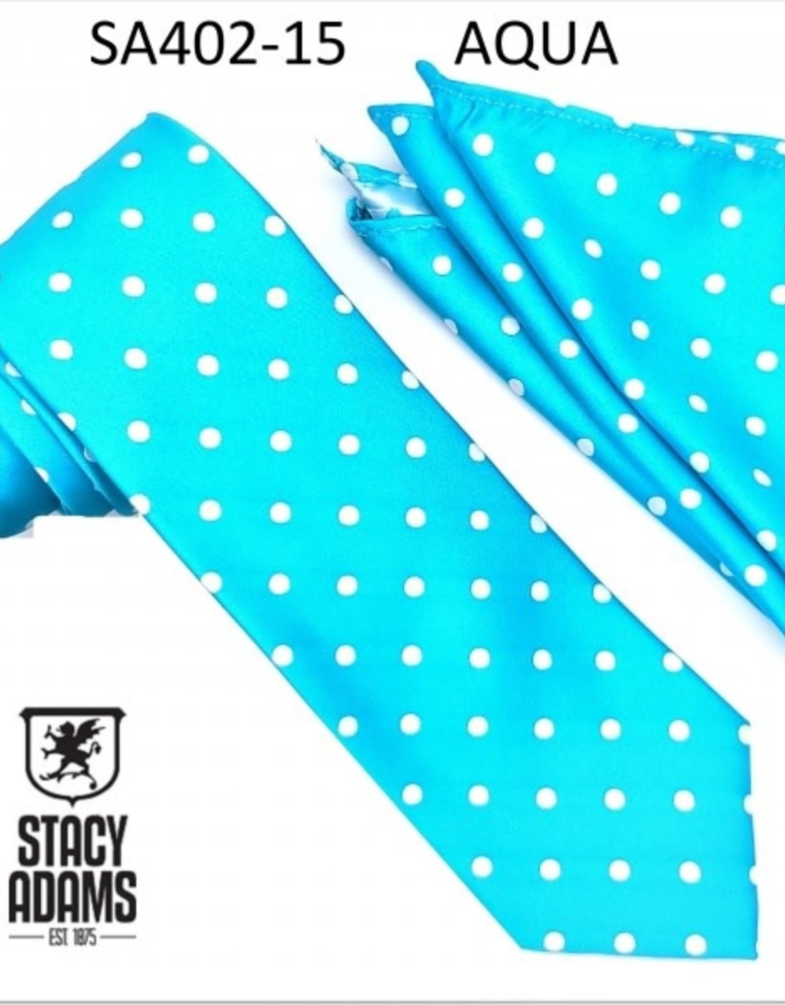 Stacy Adams Tie Stacy Adams Reg PolkaDot sa402-15 Aqua
