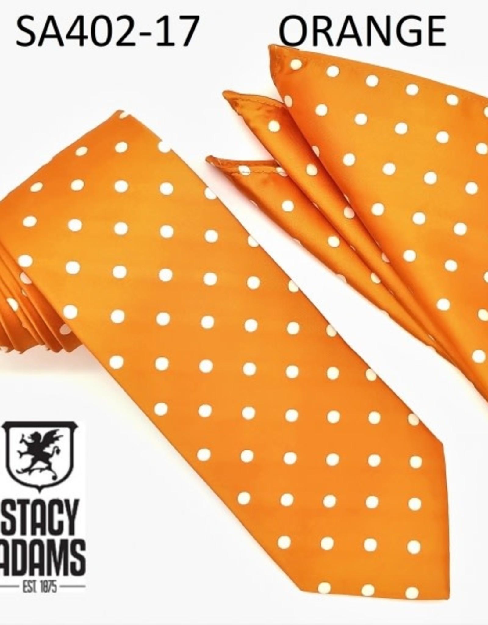Stacy Adams Tie Stacy Adams Reg PolkaDot sa402-17 Orange
