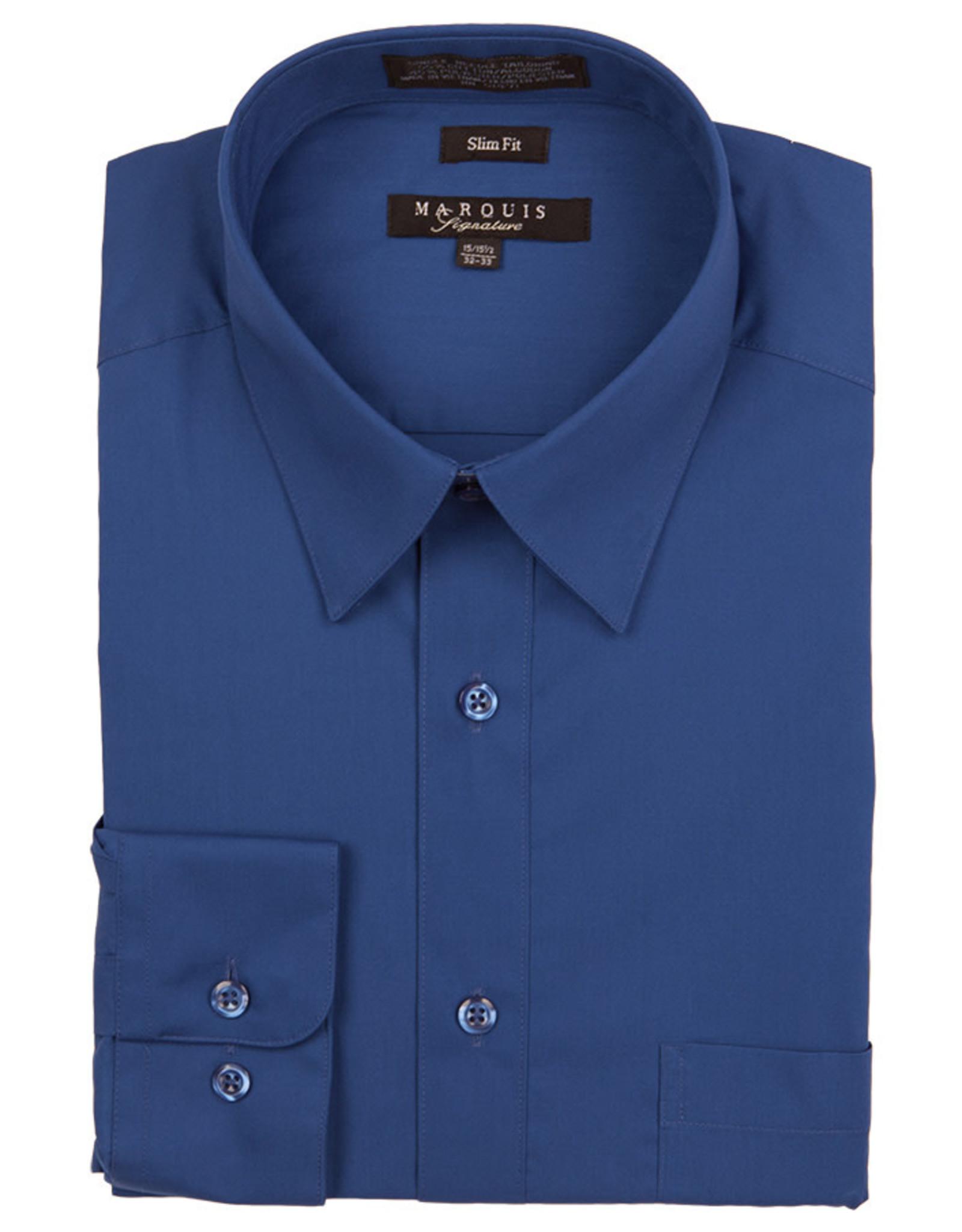 Marquis Dress Shirt MarQuis Slim Fit Royal Blue
