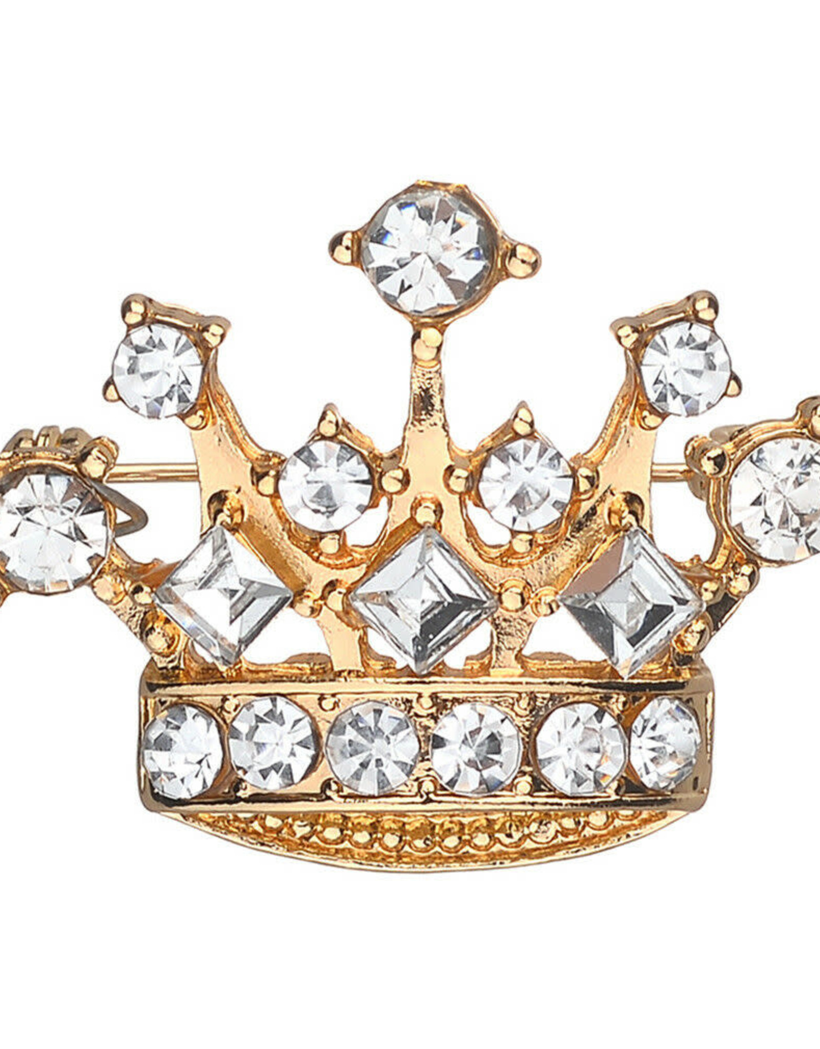 Lapel Pin Rhinestone Crown