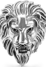 Ring Stainless Steel Lion Vint Silver