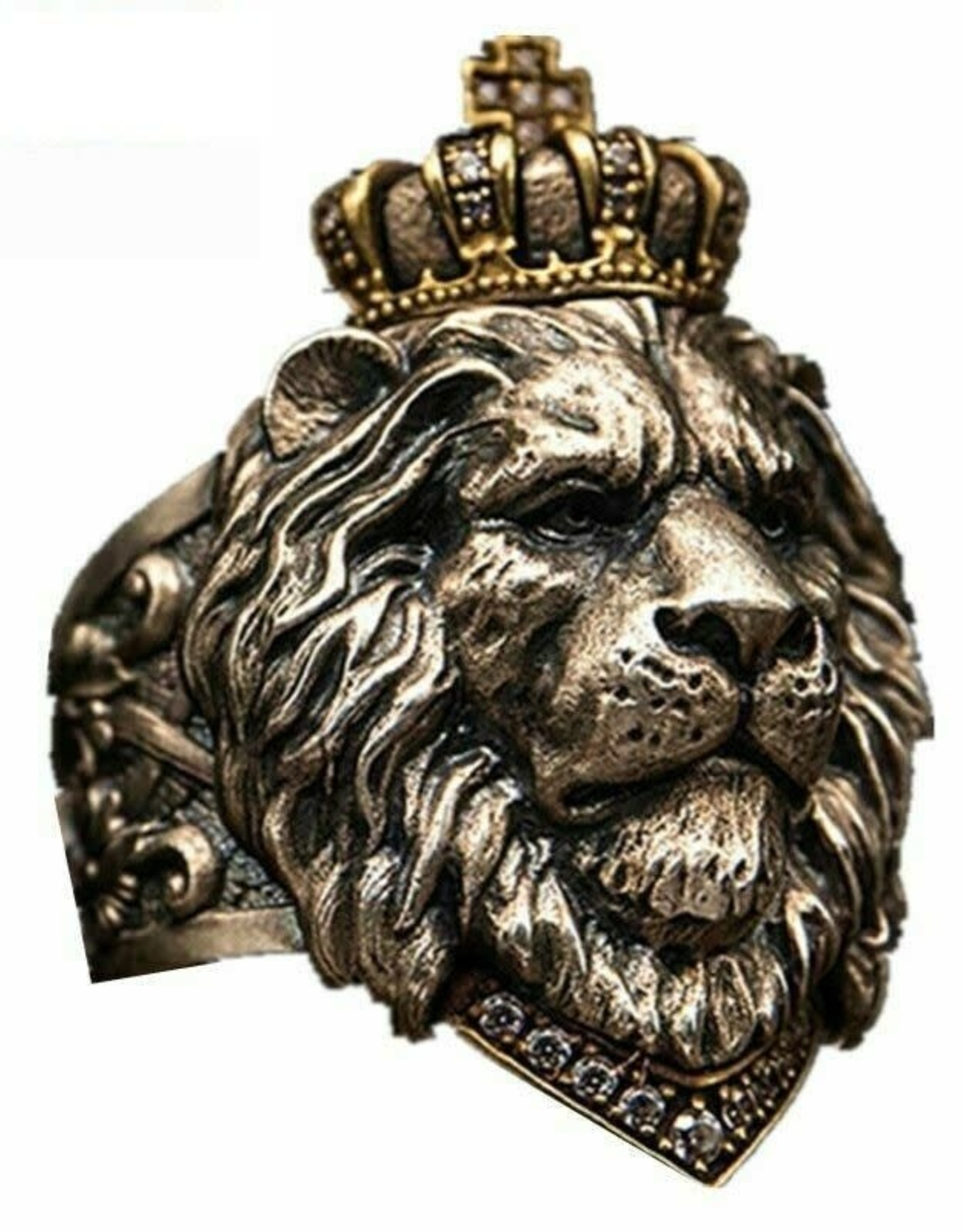 Ring Stainless Steel Lion Crown