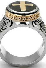 Ring Stainless Steel Holy Cross