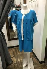 2 pc robins egg blue dress and jacket