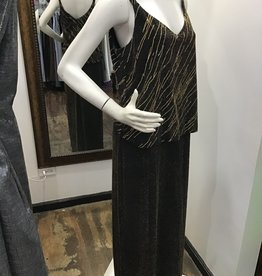 Alex Evenings Alex Evenings 90's evening dress gold and black