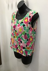 Devick 50's hand painted silk top