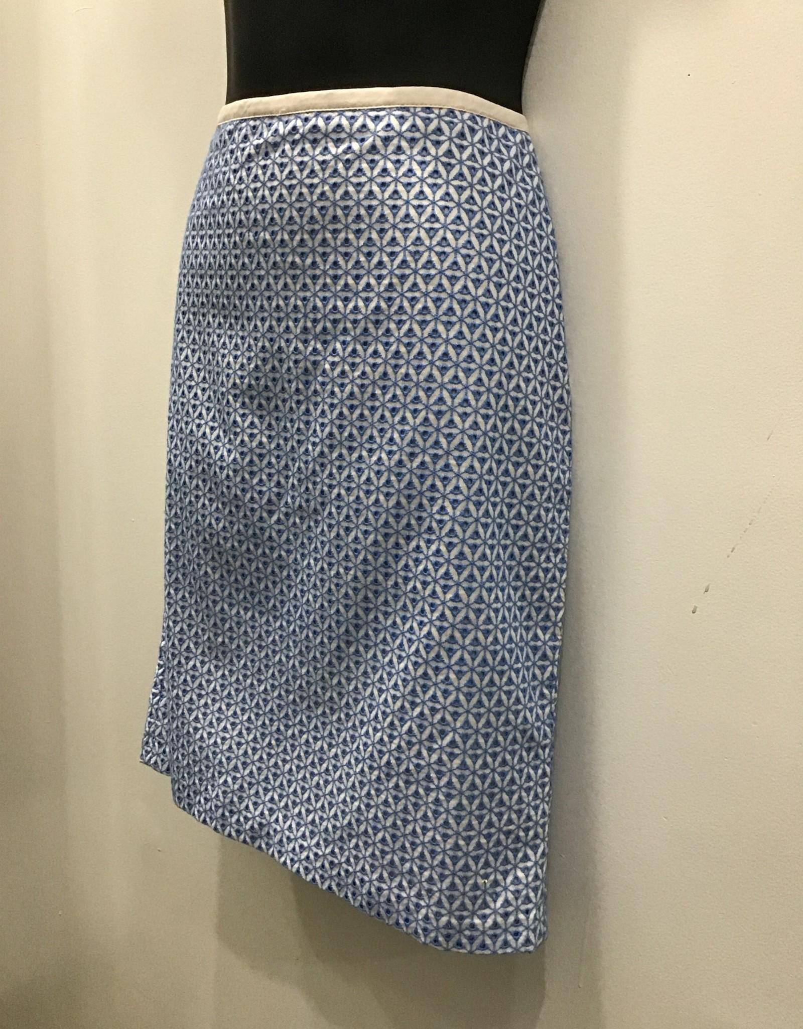 Talbots 6P blue skirt