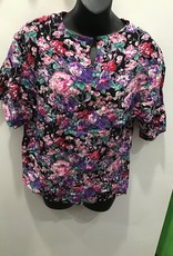 Sag Harbor 90's Medium floral print top