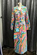Lanvin 60's Lanvin Multicolor Print Dress