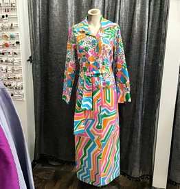 Lanvin 60's Lanvin Multicolor Print Dress