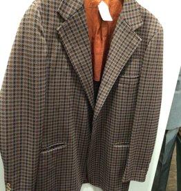 70's gray/brown polyester blazer 44R
